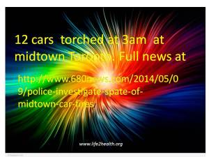 12 Cars  torched.